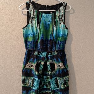Like New Abstract Print Dress (w/ Pockets!)